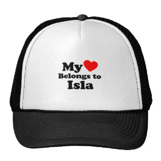 My Heart Belongs to Isla Trucker Hats
