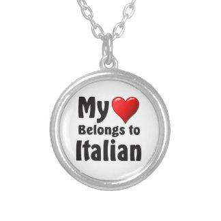 """""""My heart Belongs to Italian"""" Custom Jewelry"""
