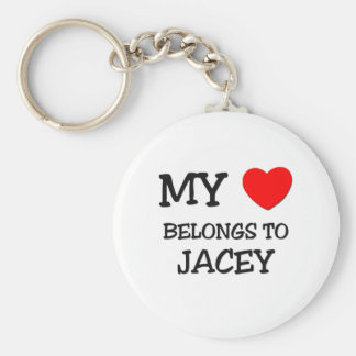 My Heart Belongs To JACEY Basic Round Button Key Ring