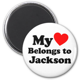 My Heart Belongs to Jackson 6 Cm Round Magnet