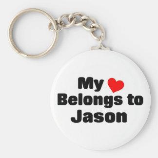 My heart belongs to Jason Key Chains