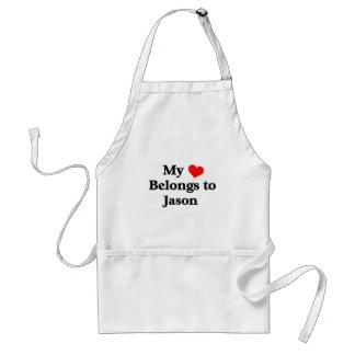 My heart belongs to Jason Standard Apron