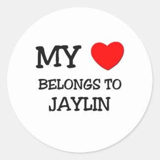 My Heart Belongs to Jaylin Round Stickers