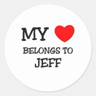 My Heart Belongs to Jeff Stickers