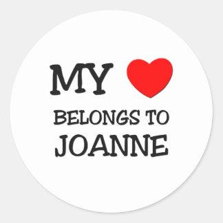 My Heart Belongs To JOANNE Stickers