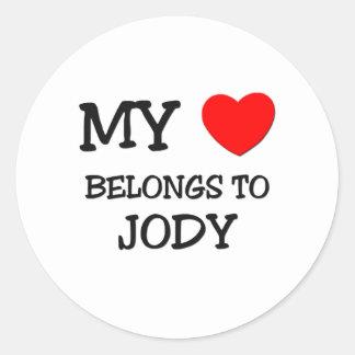 My Heart Belongs to Jody Stickers