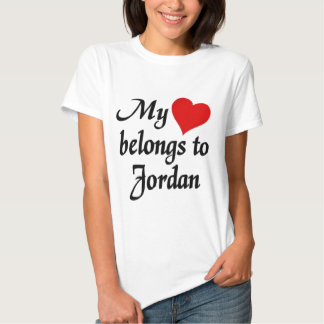 My heart belongs to Jordan T Shirts