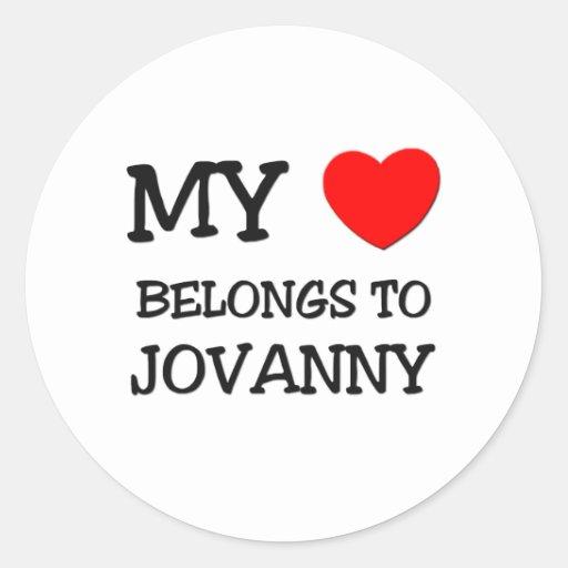 My Heart Belongs to Jovanny Sticker