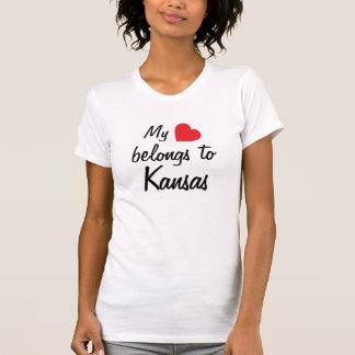 My heart belongs to Kansas Tshirts
