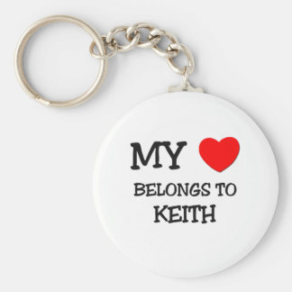 My Heart Belongs to Keith Basic Round Button Key Ring
