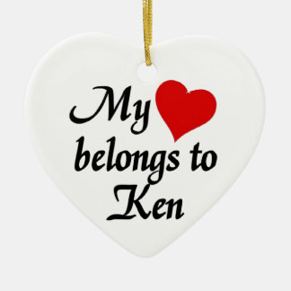 My heart belongs to Ken Christmas Ornament