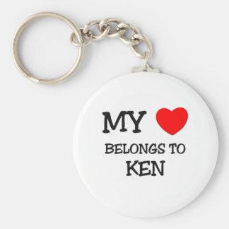 My Heart Belongs to Ken Keychain