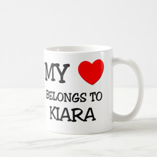 My Heart Belongs To KIARA Coffee Mugs