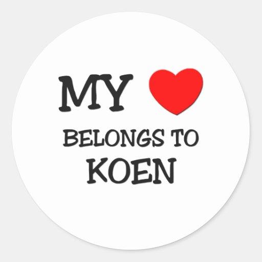 My Heart Belongs to Koen Stickers
