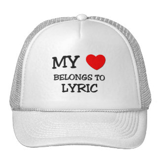 My Heart Belongs To LYRIC Mesh Hat