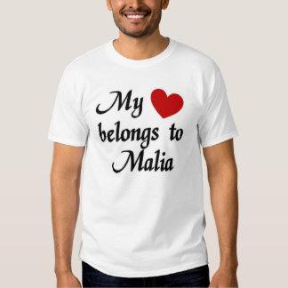 My heart belongs to Malia T-shirts