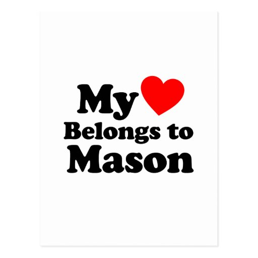 My Heart Belongs to Mason Postcard