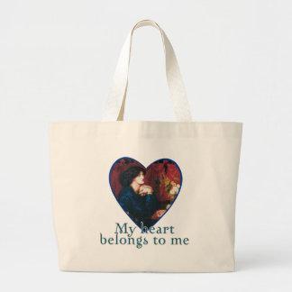 My Heart Belongs to Me Jumbo Tote Bag