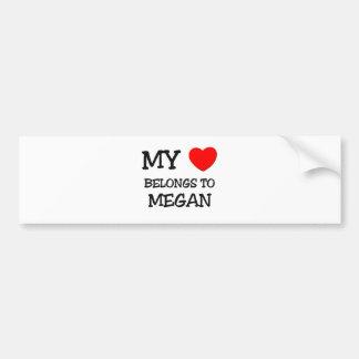 My Heart Belongs To MEGAN Bumper Sticker