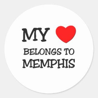My heart belongs to MEMPHIS Stickers