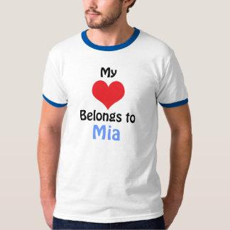 My Heart Belongs to Mia T-Shirt