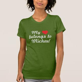 My heart belongs to Michael T-shirts