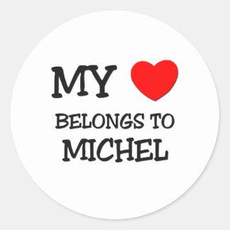 My Heart Belongs to Michel Stickers