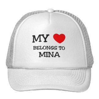 My Heart Belongs To MINA Trucker Hat