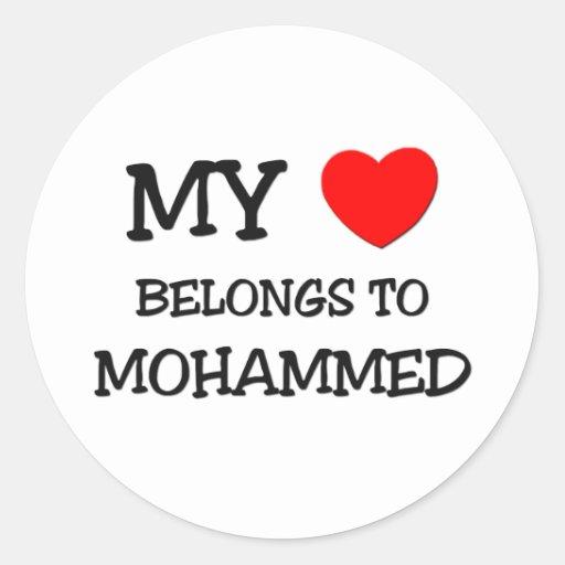 My Heart Belongs to Mohammed Stickers