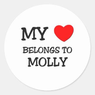 My Heart Belongs To MOLLY Round Sticker