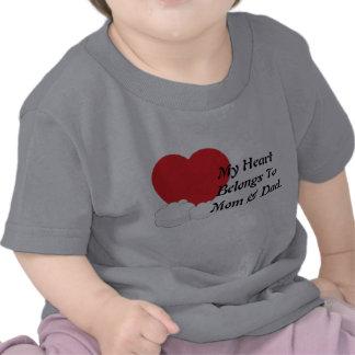 My Heart Belongs To Mom & Dad Shirt