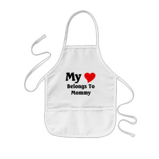 My heart belongs to mommy kids apron