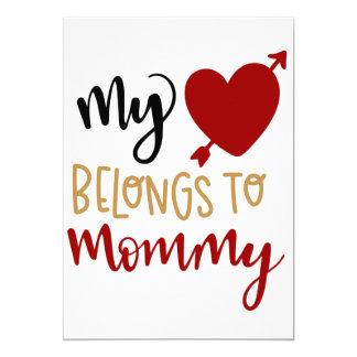 My heart belongs to mummy card