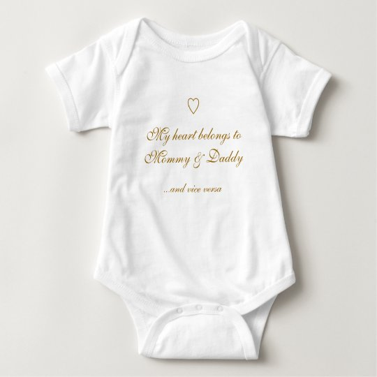My heart belongs to Mummy & Daddy, ...and vice ver Baby Bodysuit