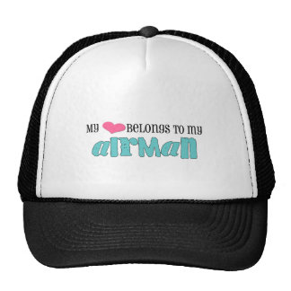 My heart belongs to my airman mesh hats