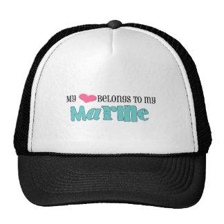 my heart belongs to my marine hat