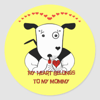 My Heart Belongs to My Mommy Classic Round Sticker