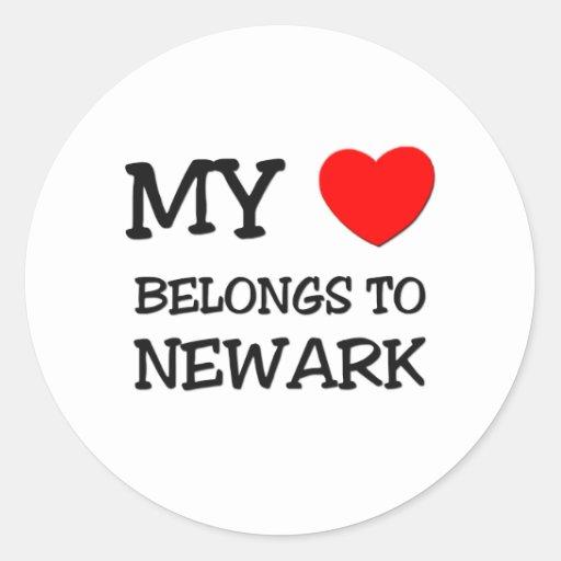 My heart belongs to NEWARK Stickers