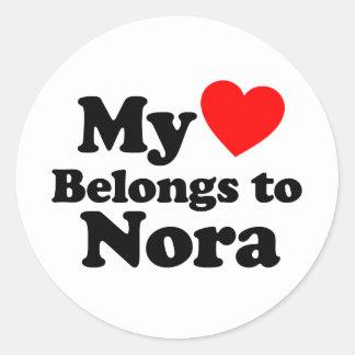 My Heart Belongs to Nora Sticker