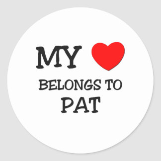 My Heart Belongs to Pat Stickers