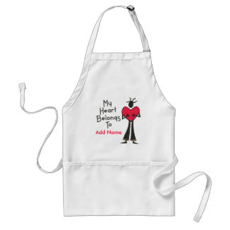 My Heart Belongs to Personalize It Adult Apron