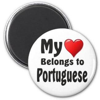 My heart Belongs to Portuguese Magnet