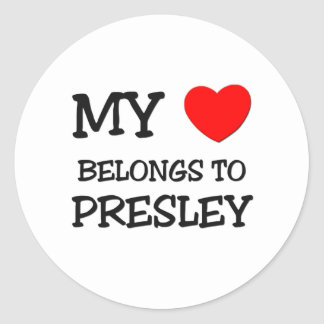 My Heart Belongs To PRESLEY Sticker