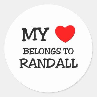 My Heart Belongs to Randall Sticker