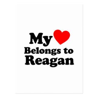 My Heart Belongs to Reagan Post Card