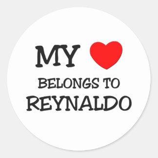 My Heart Belongs to Reynaldo Round Sticker