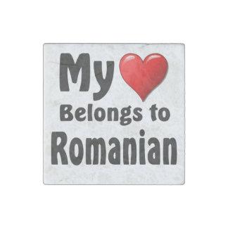 My heart Belongs to Romanian Stone Magnet