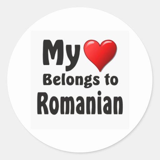 """""""My heart Belongs to Romanian"""" Stickers"""