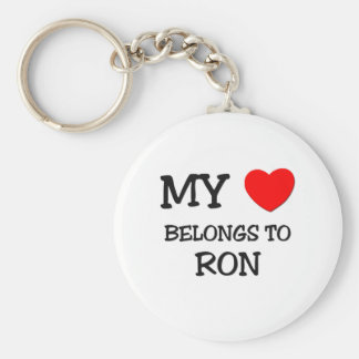 My Heart Belongs to Ron Basic Round Button Key Ring