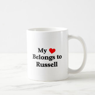 My heart belongs to Russell Coffee Mugs